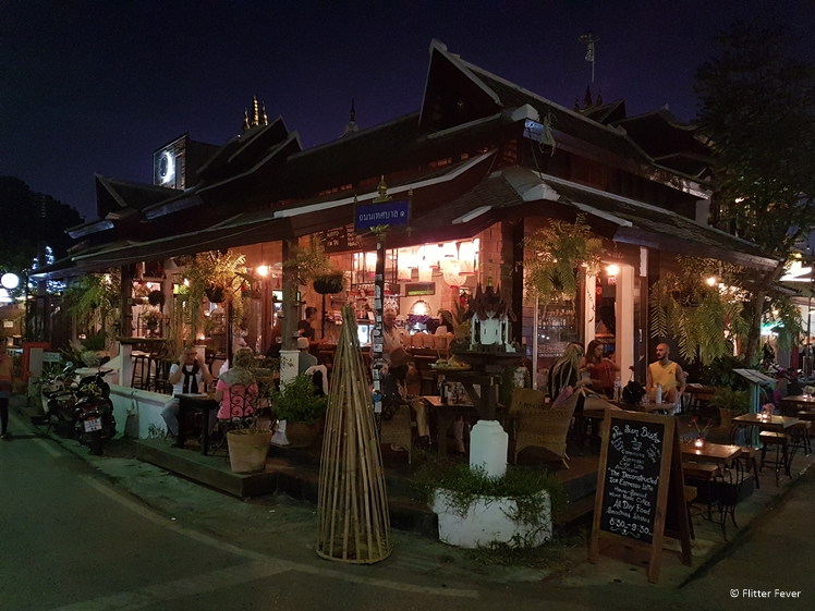 Pai Siam Bistro at night Thailand