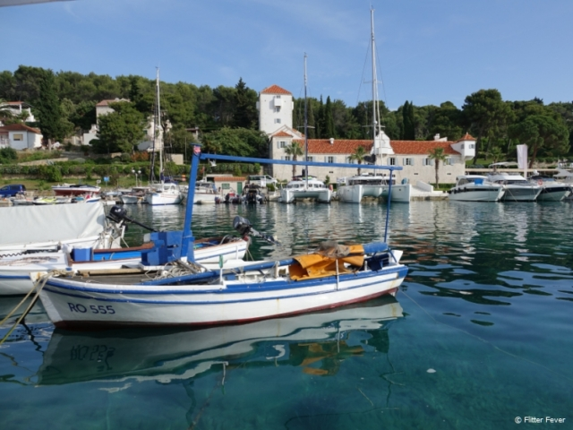 Boats at harbour of Maslinica, Šolta Island Croatia