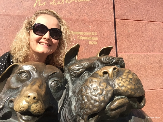Walking Dogs sculpture Krasnodar Russia