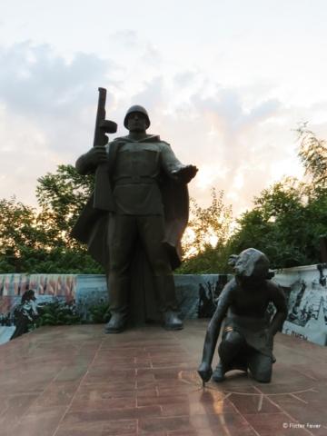 War memorial in Krasnodar at sunset