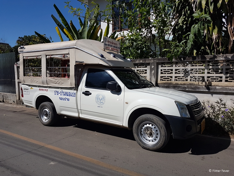 White taxi spotted in Pai