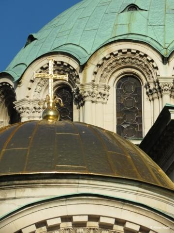 Alexander Nevsky Cathedral close-up Sofia