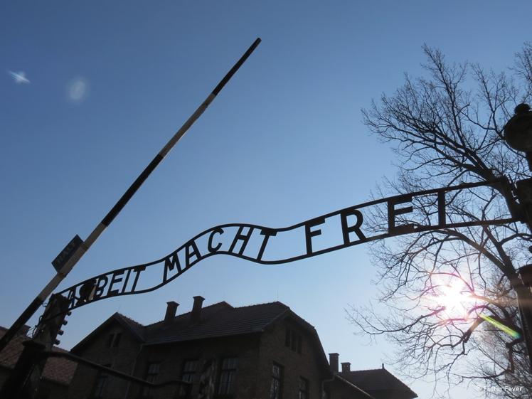 Arbeit Macht Frei Auschwitz camp 1 entrance Krakow