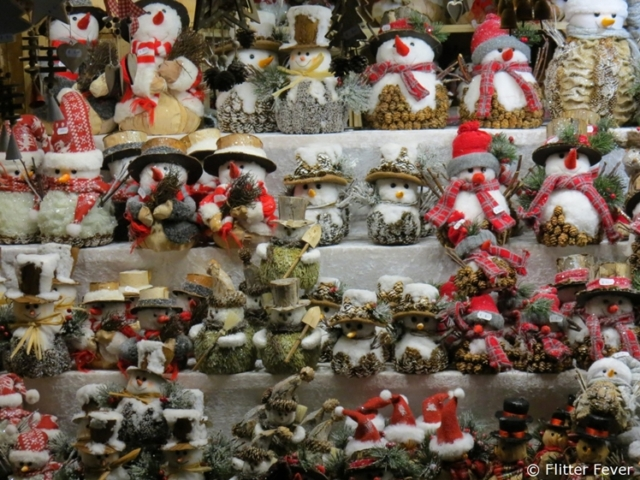 Snow men for sale at Vienna Christmas Market