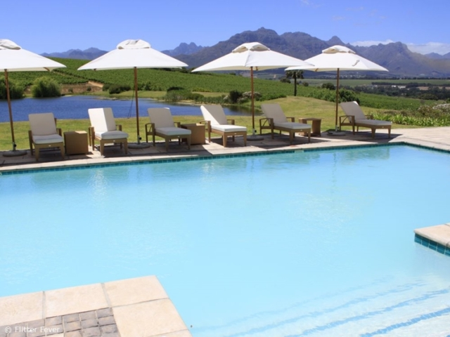 Pool with a view @ Asara Wine Estate & Hotel in Stellenbosch, South Africa