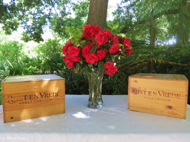 Red wine and Red roses @ Rust and Vrede winery in Stellenbosch