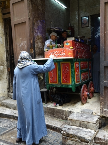 Food stall in Historic Cairo