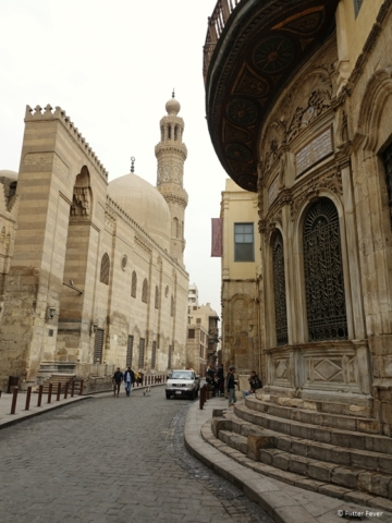 Madrasa and Dome of Sultan Al-Nassir Mohammed Ibn Qalawun at El Moez Street in Historic Cairo