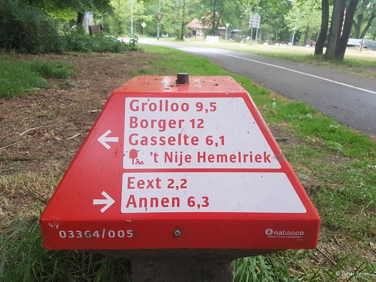 ANWB paddenstoel fietspad Drenthe
