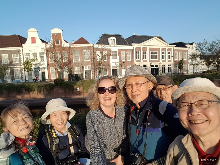 These Japanese people wanted to take a picture with me in Huis ten Bosch, Japan