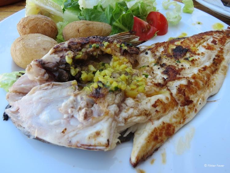 Fresh fish for lunch in Puerto de Mogan on Gran Canaria