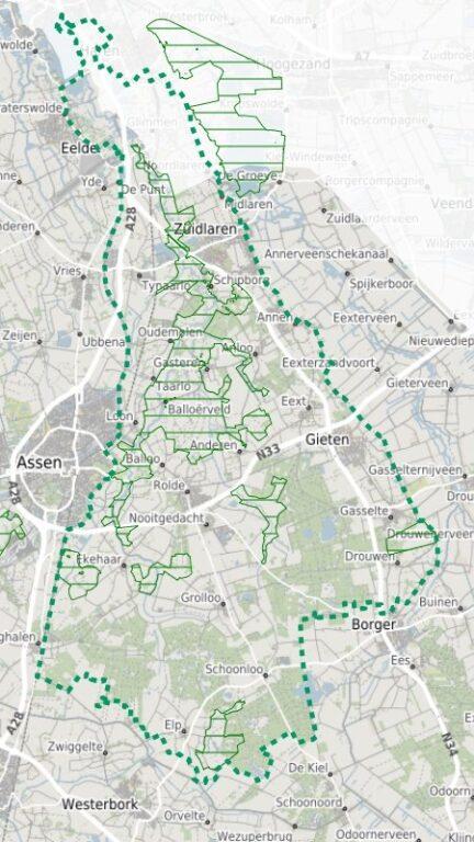 Map Drentsche Aa