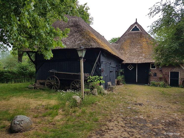 Old farm in Balloo Drentsche Aa Drenthe Netherlands
