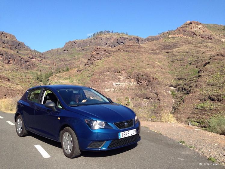 Our rental car, a Seat Ibiza on Gran Canaria