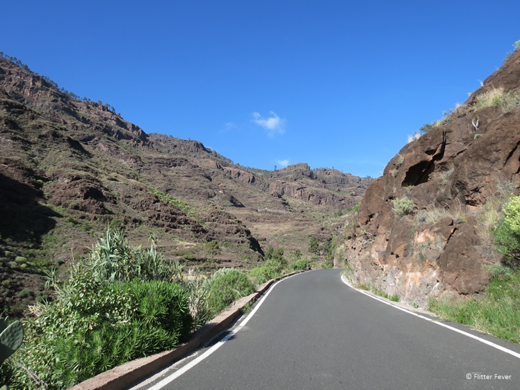 Road through the mountains of central Gran Canaria