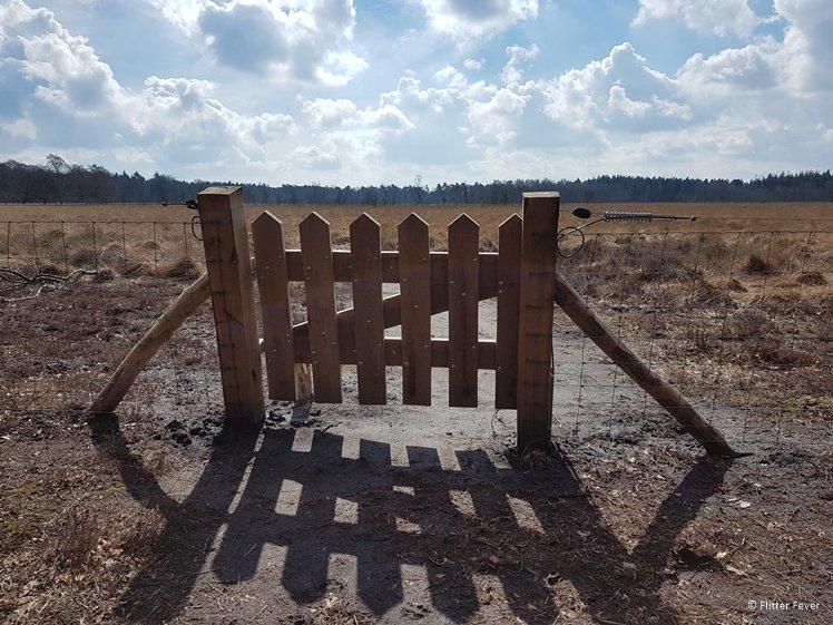 Trail fence Drenthe Gasteren rentsche Aa