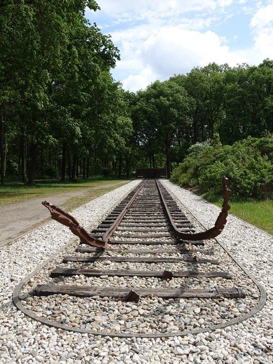 Treinspoor in Kamp Westerbork Nederland