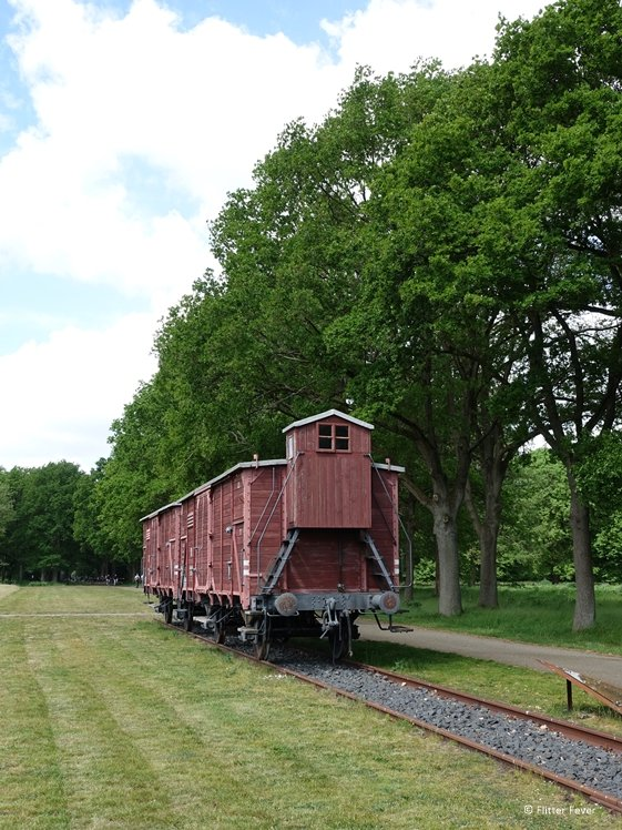 Train waggon at Westerbork transit camp The Netherlands