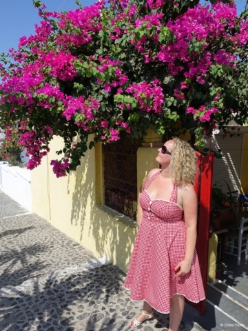 Vintage dress Santorini Greece
