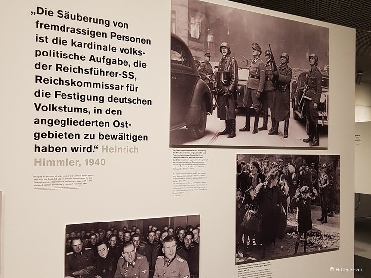 Display at the Topography of Terror World War 2 Museum in Berlin