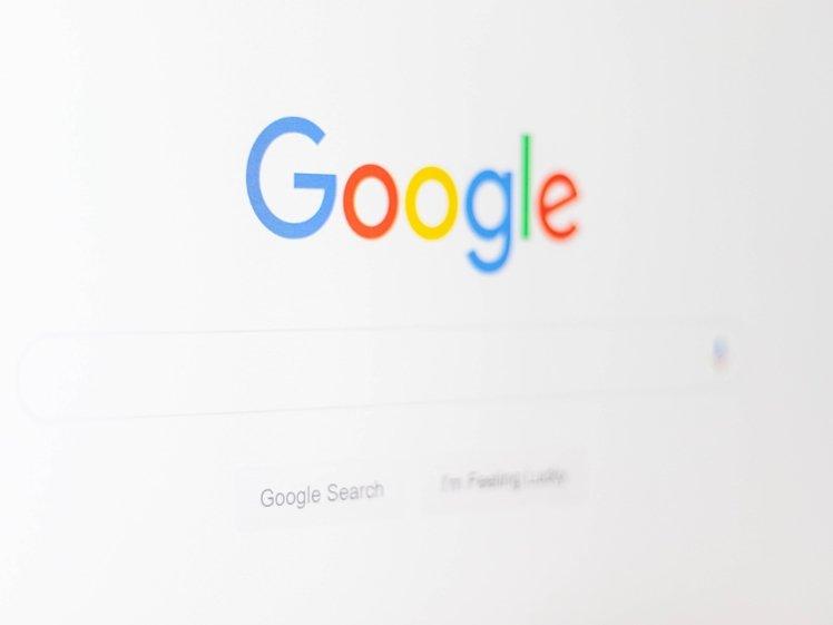Google on computer screen