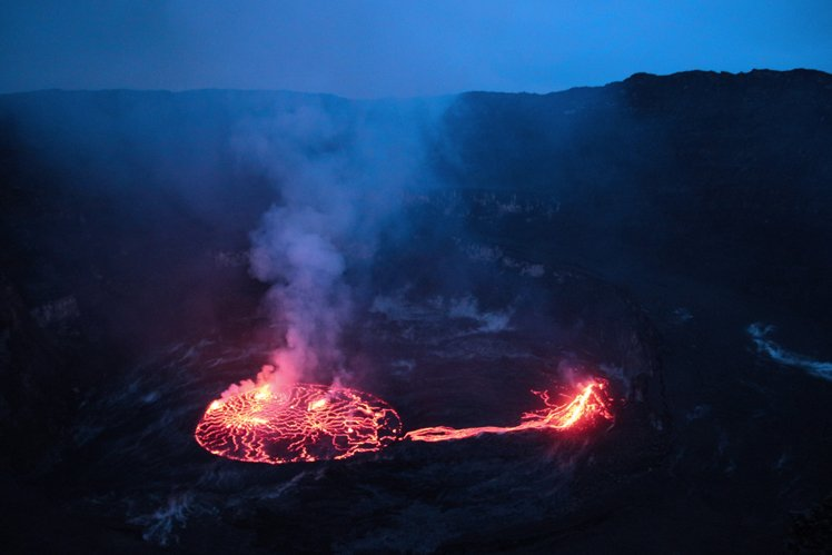 Hiking Nyiragongo volcano in DR Congo