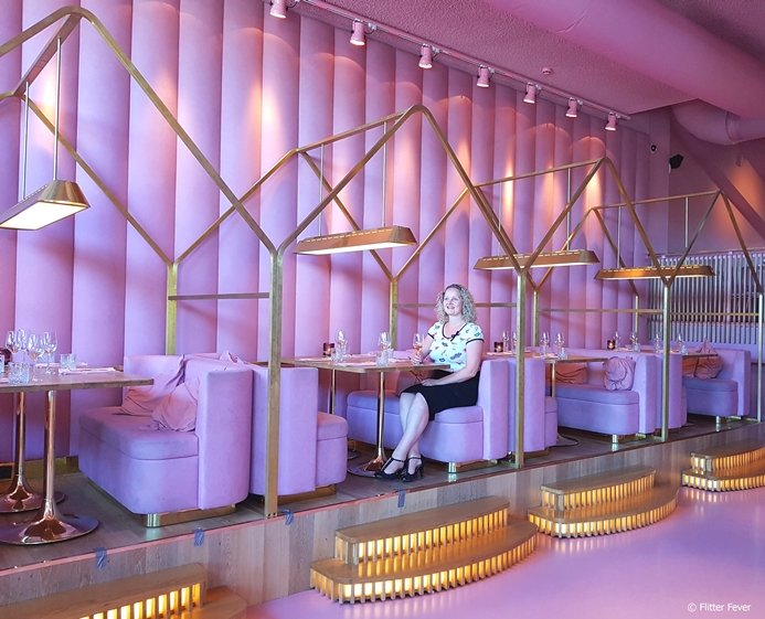 Mama Kelly Amsterdam is a pink themed restaurant