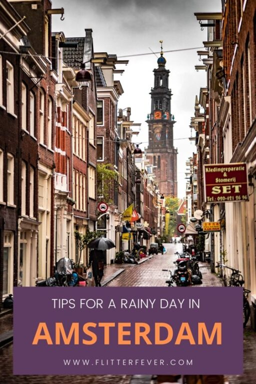 Tips for a rainy day in Amsterdam Pinterest post