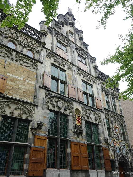 Beautiful building opposite the Old Church Delft