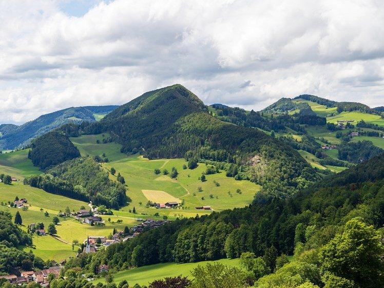 Beautiful landscape of Langenbruck in Basel-Landschaft