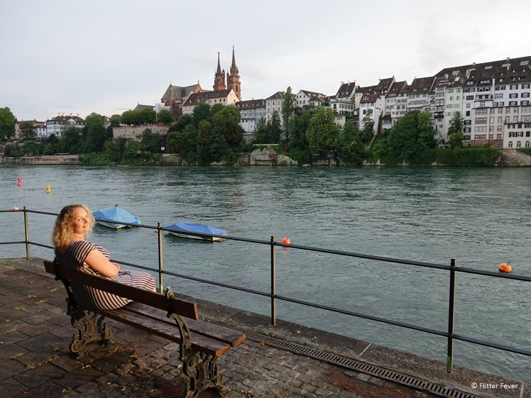Chilling at the Rhine River at sunset