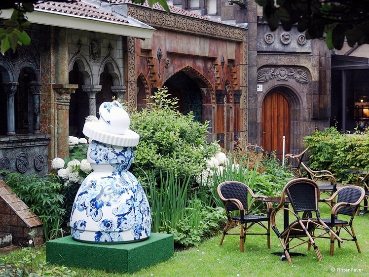 Courtyard garden of Royal Delft museum