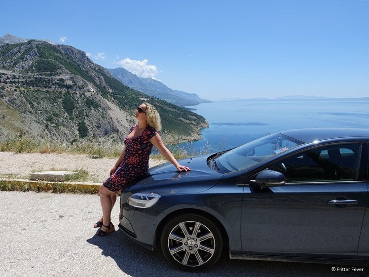 Driving the D80 at the Makarska Riviera by car is great