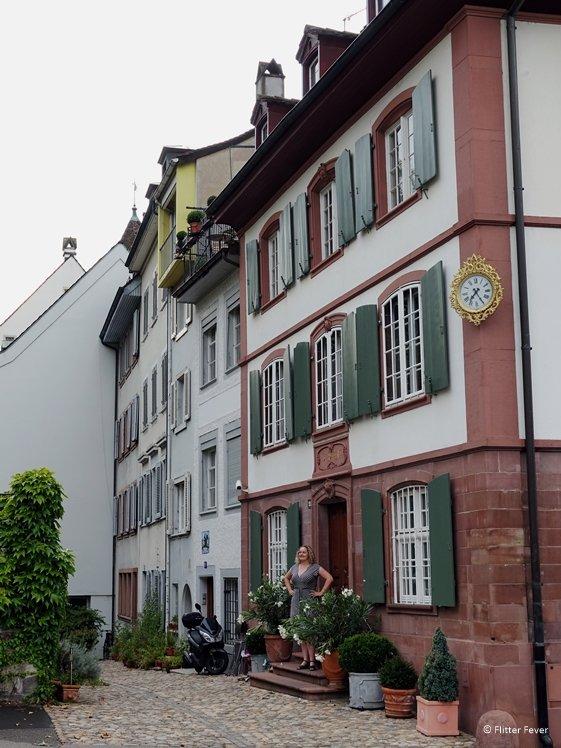 House on the corner of Petersplatz and Petersgraben University Basel area
