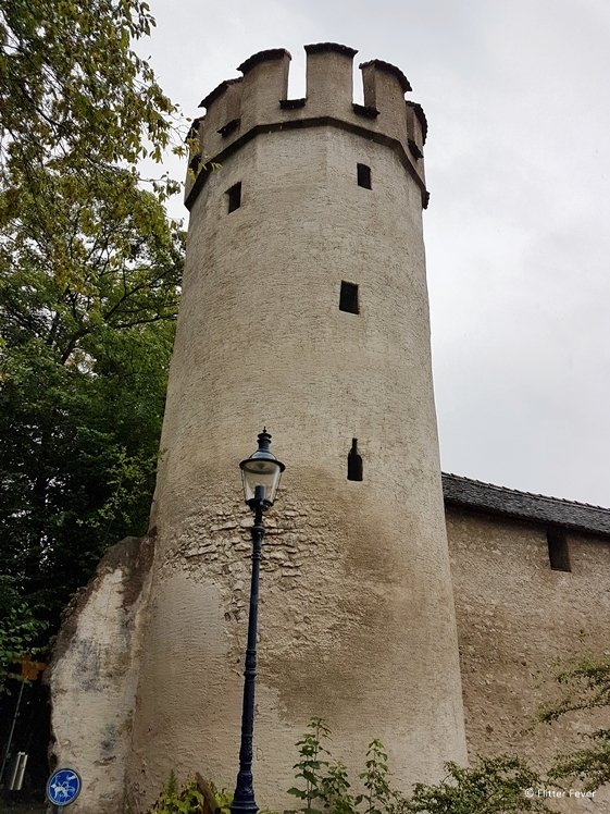 Letziturm tower of old city wall in St. Albans Basel