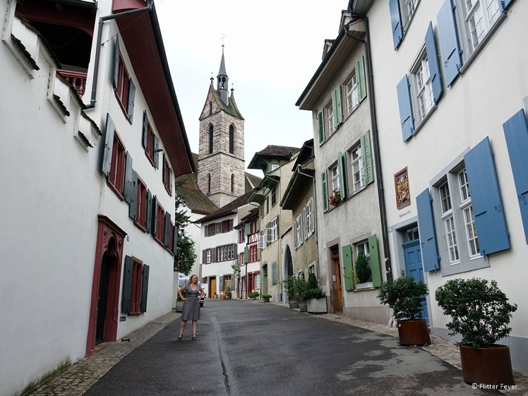 Petersgasse and Peterskirche in Basel