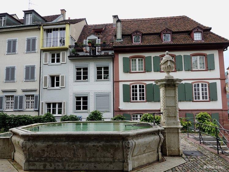 Petersplatz Fountain Basel Brunnen
