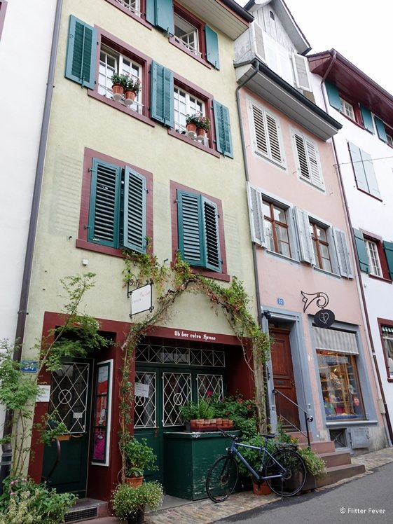 Picturesque boutiques at Nadelberg in Basel