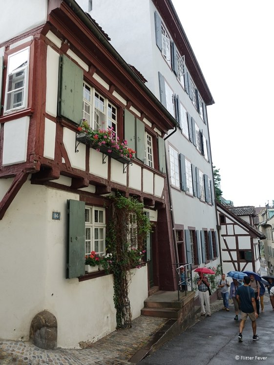 Rheinsprung is a cute back street between the main road and the river