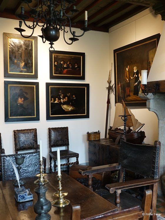 Second floor of Museum Paul Tetar van Erven in Delft