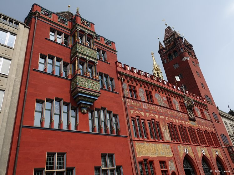 The red town hall of Basel