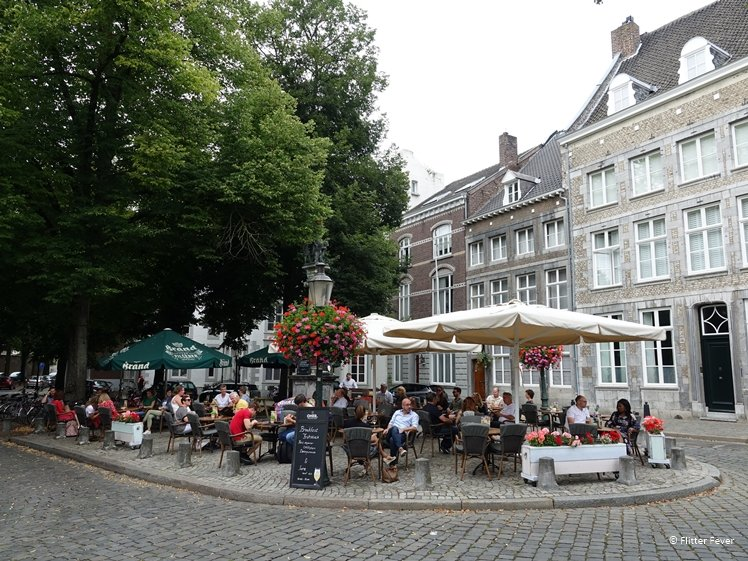 Terrace of Restaurant Lure at the Grote Looierstraat Maastricht