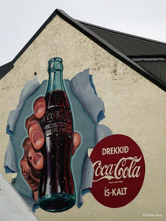 Coca-Cola commercial street art Reykjavik