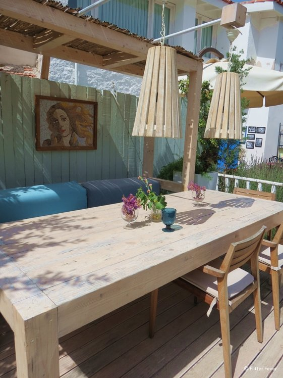 Cute table setting in the garden of Arven Food and Wine