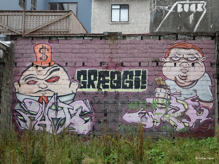 Graeggi street art Reykjavik