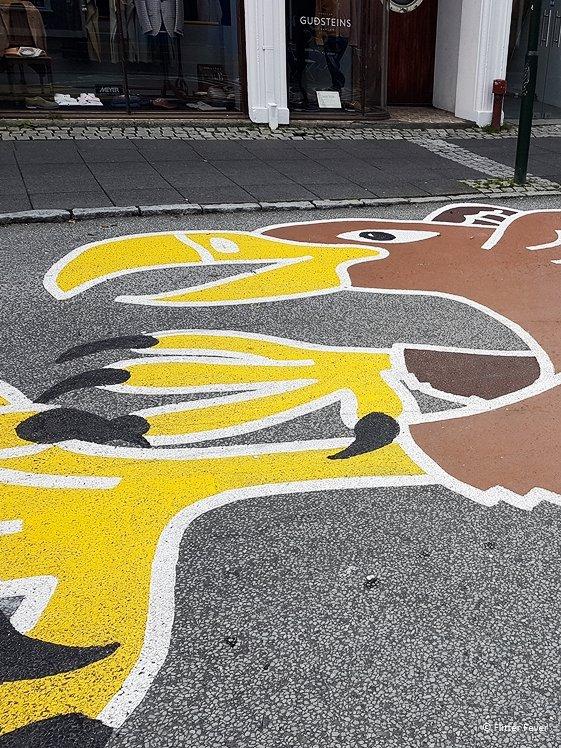 Gyrfalcon street art Lighthouse Village Creative Quarter Reykjavik