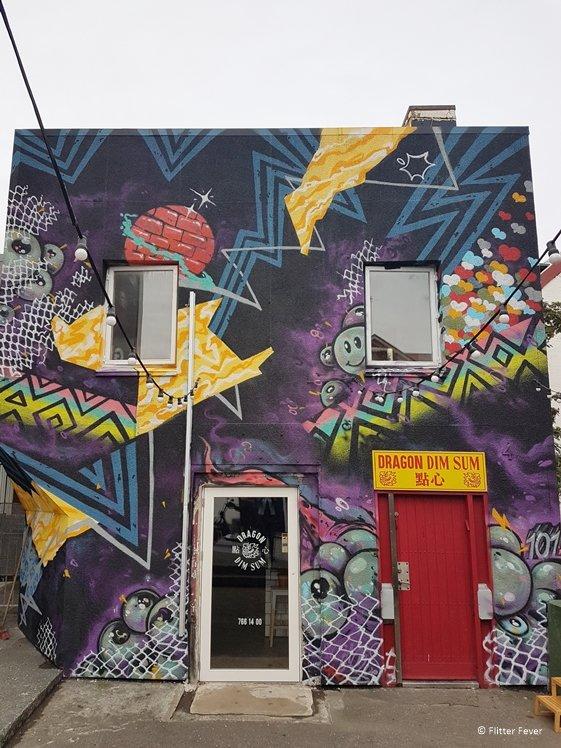 MB Taqueria street art Dragon Dim Sun Reykjavik