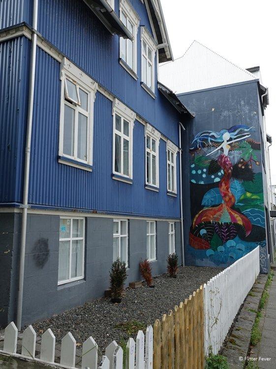 Mermaid Mural street art Reykjavik