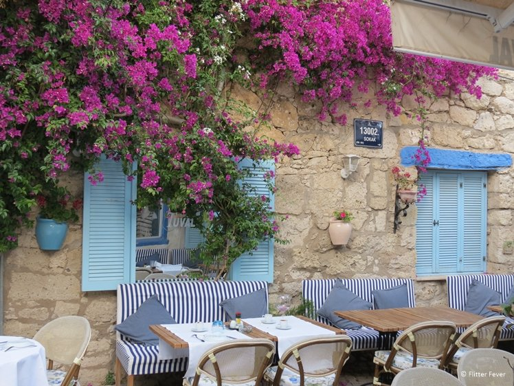 One of the cute cafes in the old town of Alacati, Tuval