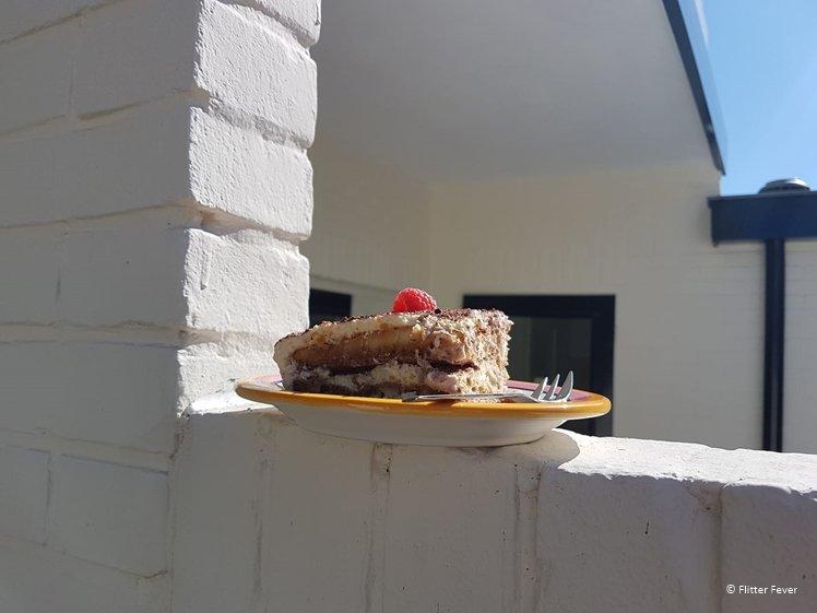 Our neighbors also appreciate a piece of home-made tiramisu